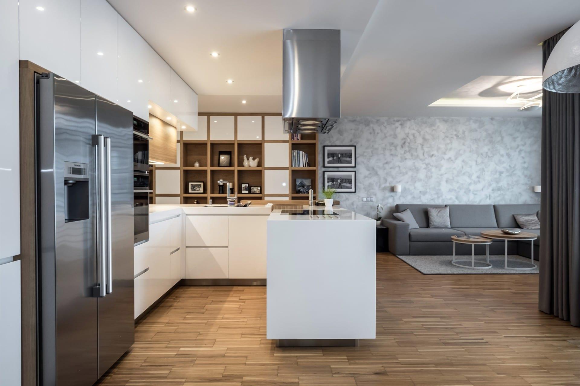 Obývací pokoj s kuchyní pro náročnější zákazníky