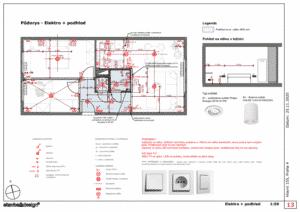 Architektonický návrh - Elektřina