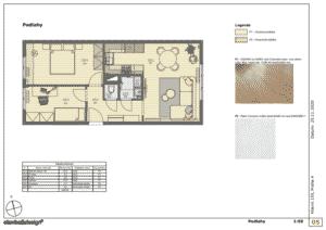 Architektonický návrh - Podlahy