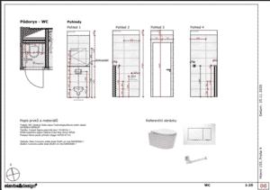 Architektonický návrh - WC