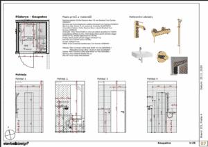 Architektonický návrh - koupelna